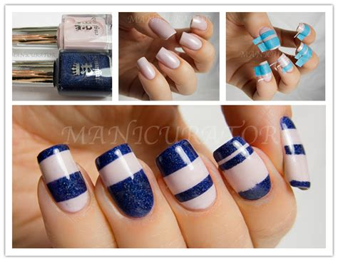 Steps To A Diy Manicure by How To Make Diy Stripe Nails Step By Step Tutorial