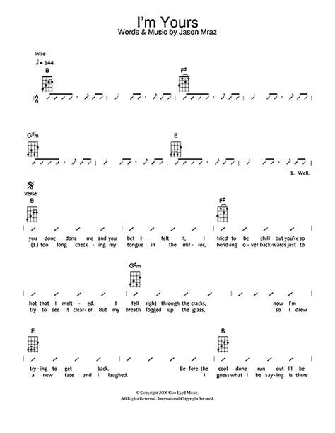 strumming pattern for you and i i m yours sheet music by the ukuleles ukulele with