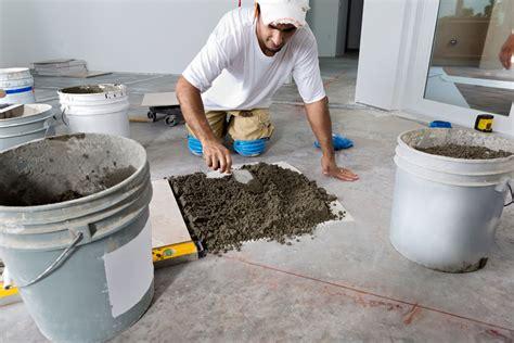 can you put ceramic tile on concrete basement floor can you install tile directly on concrete