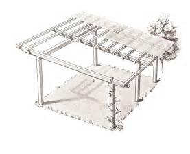 Patio Cover Attached To Roof Free Pergola Plans