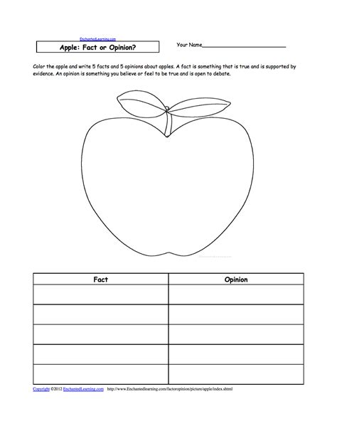 Apple Worksheets Grade apples at enchantedlearning