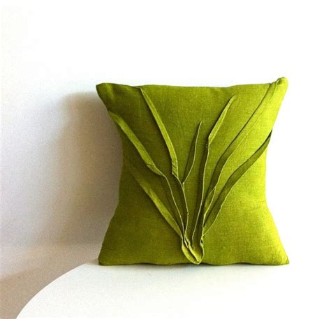 grass texture pillow moss green modern decorative - Houzz Pillows