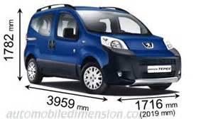 Peugeot Bipper Dimensions Dimensions Des Voitures Peugeot Longueur X Largeur X Hauteur