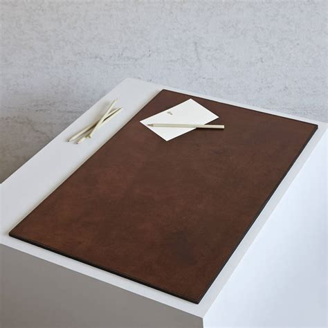 desk uk personalised leather desk mat by of