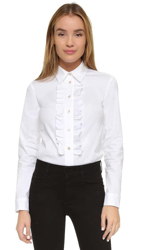 Blouse Chery White buy white ruffle blouse chiffon blouse pink