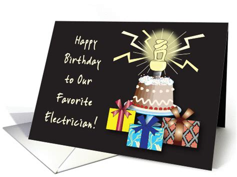 Electrician Birthday Card Happy Birthday To Electrician Lightening Card 878127