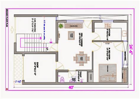 home planner east facing house plan 30x40