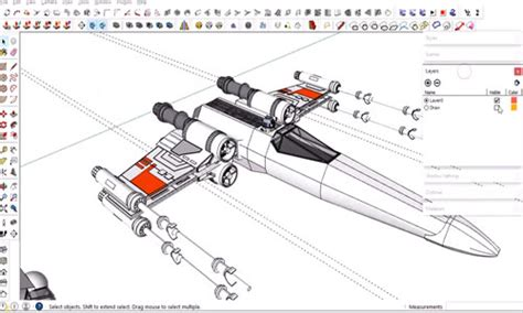 sketchup tutorial airplane sketchup youtube tutorial x wing fighter plane with sketchup