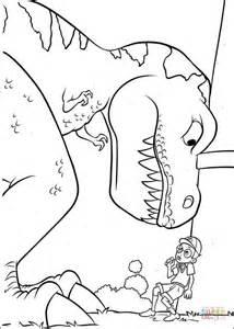 ausmalbild lewis und der t rex kostenlos