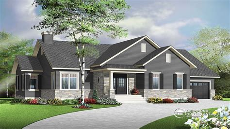 4 Bedroom Ranch Floor Plans Bungalow House Plans Ranch House Plans Canadian Bungalow