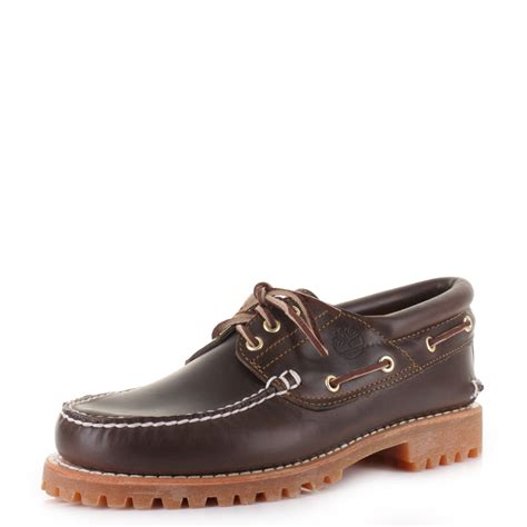 timberland boat shoes size 5 mens timberland traditional classic lug 3 eye brown