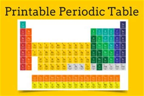 printable periodic table for elementary students 75 best images about physical science on pinterest