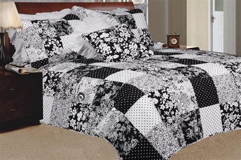 Black And White Patchwork Quilt - funk n color with patchwork quilt sets funk this house