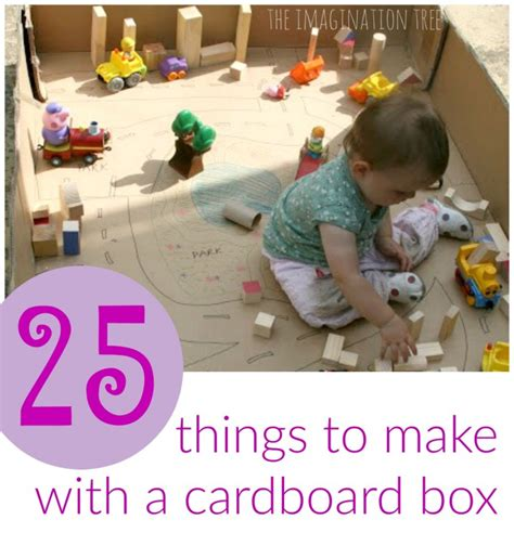 things to make with 25 creative ways to use a cardboard box the imagination tree