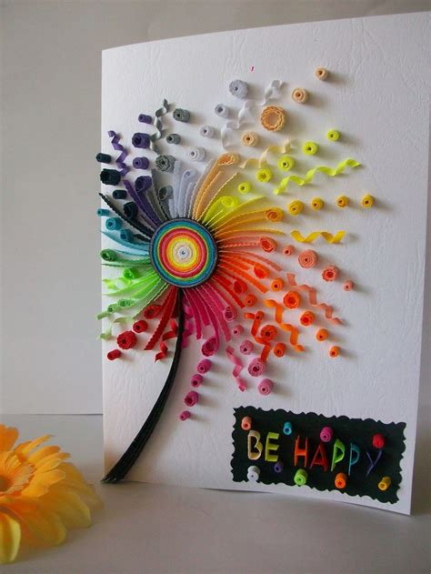 How To Make Paper Quilling Greeting Cards - best 25 quilling birthday cards ideas on