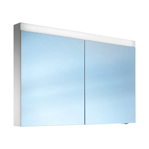 schneider mirrored bathroom cabinet schneider pataline 2 door led mirror cabinet 1200mm