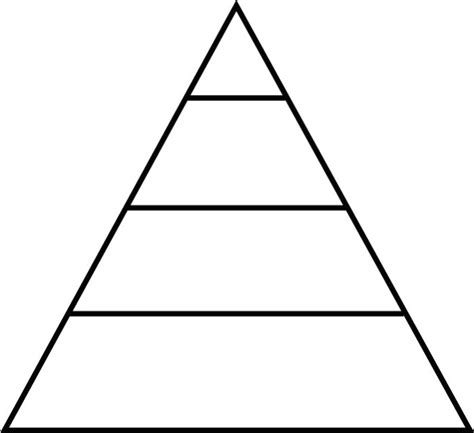 Blank Food Pyramid Template by Pyramid Template Clipart Best