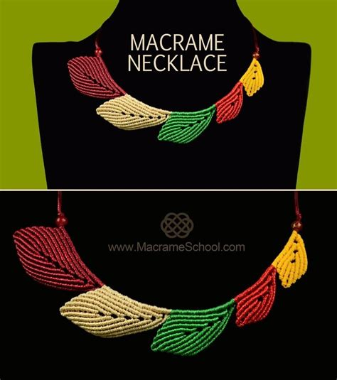 Macrame Tutorials - macrame leaf necklace tutorial 171 jewelry wonderhowto