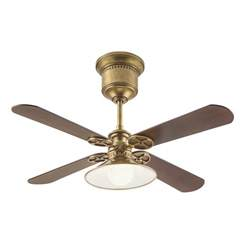 Ceiling Fan With Blades That Open Up Shop Kichler 52 In Natural Brass Downrod Mount Indoor
