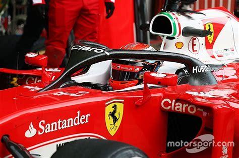 formula 1 test raikkonen tests f1 halo cockpit system