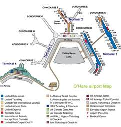 Chicago O Hare Airport Map by O Hare Airport Map Terminal Services Ground Transportation