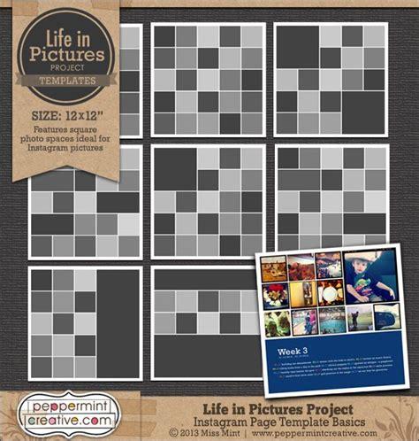 instagram scrapbook layout 17 mejores im 225 genes sobre instagram scrapbooking en