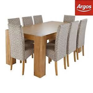 Argos Dining Table And Chairs Of House Alston Oak Dining Table And 8 Floral Chairs From Argos On Ebay
