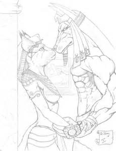 anubis and bastet sketch by dsgraphite on deviantart