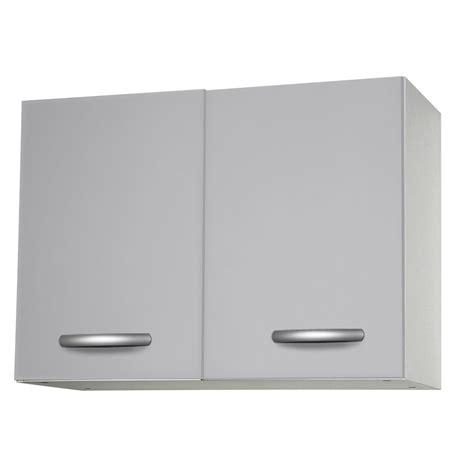 駘駑ent haut cuisine meuble de cuisine haut 2 portes gris aluminium h57 9x