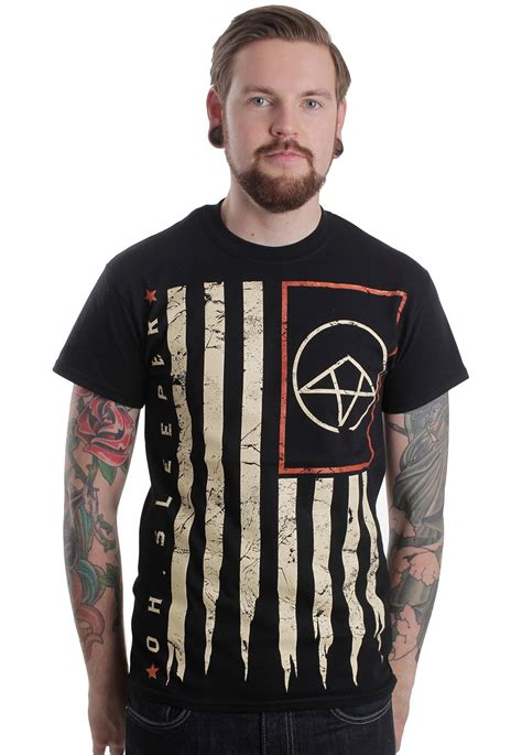 Oh Sleeper Website by Oh Sleeper Flag T Shirt Official Metalcore