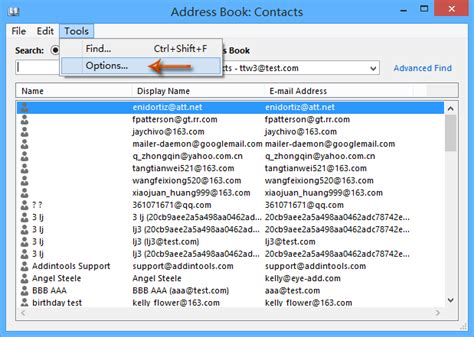 International Address Finder How To Search Local Contacts Before Global Address List In