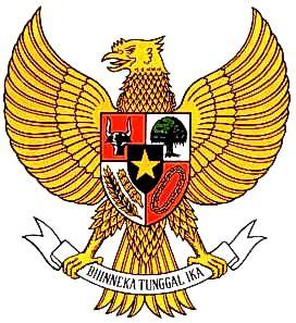garuda biru lambang dan bendera negara kioslambang