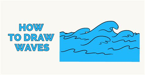 how to draw simple arrow wave how to draw waves really easy drawing tutorial