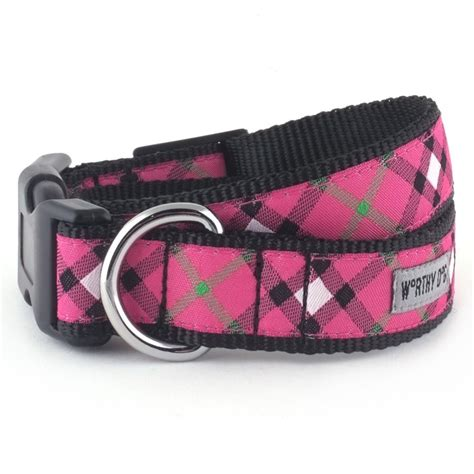 plaid collars bias plaid pink collar the worthy