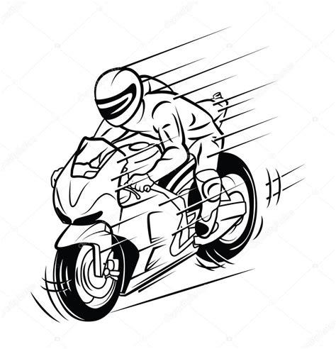 imagenes vectores motos carrera de moto vector de stock 169 funwayillustration