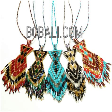 Handmade Bali - bali handmade miyuki necklaces pendant