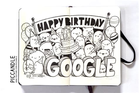 doodle drawing names doodle happy birthday d by piccandle on deviantart