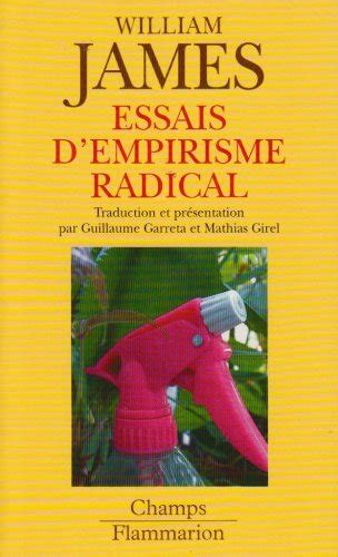 libro essais libro essais d empirisme radical di william james