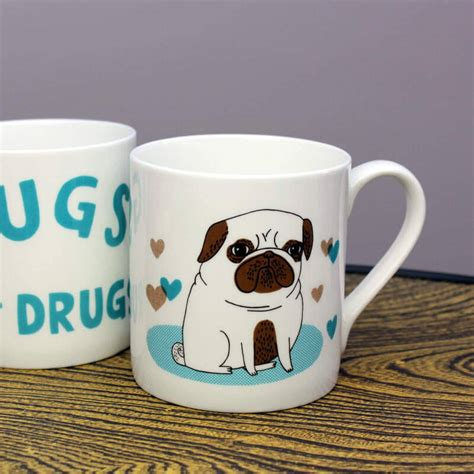 pugs not drugs mug pugs not drugs mug buy from prezzybox