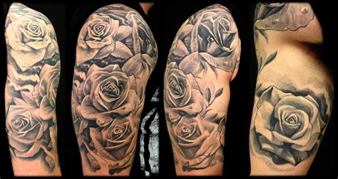 half sleeve rose tattoo sleeve tattoos glasgow