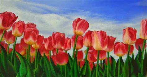 wallpaper bunga tulip di belanda gambar lukisan pemandangan bunga tulip di belanda gambar