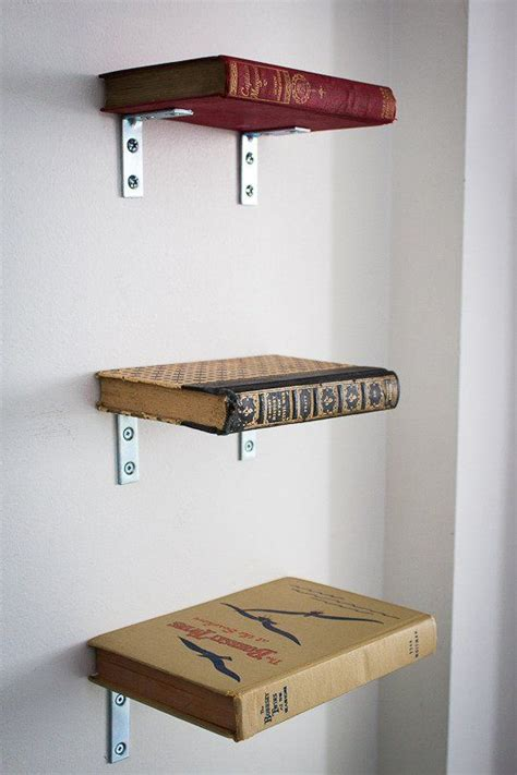 book shelf made from books and brackets home office