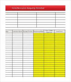 home renovation budget spreadsheet template 4 renovation budget template