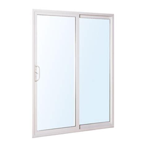 Reliabilt Sliding Patio Doors Reviews Shop Reliabilt 300 Series 58 75 In Clear Glass Vinyl Sliding Patio Door At Lowes