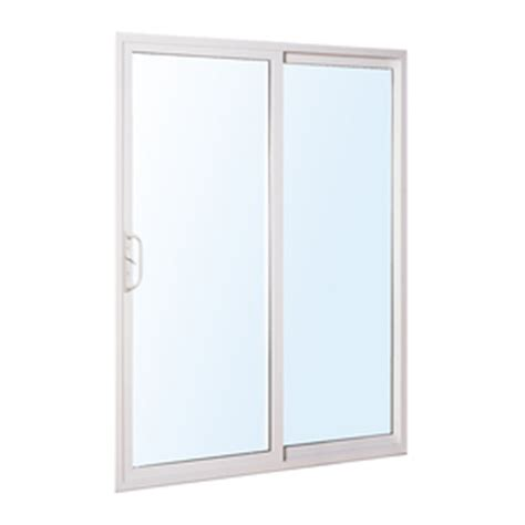 Reliabilt Sliding Patio Doors Shop Reliabilt 300 Series 58 75 In Clear Glass Vinyl Sliding Patio Door At Lowes