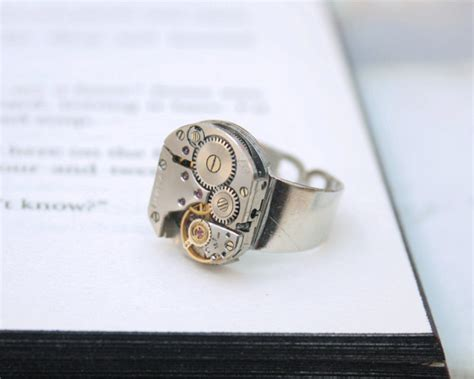 Mens Pinky Ring Steampunk Ring Steampunk Signet