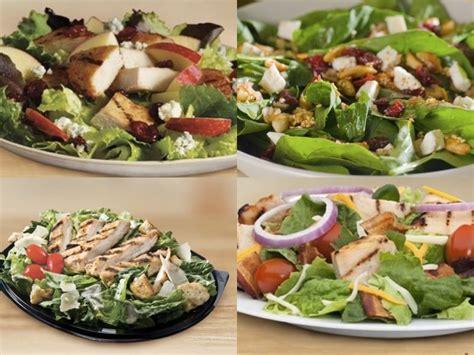 Backyard Burger Salad Calories 10 Fast Food Items With Less Calories Than You Think