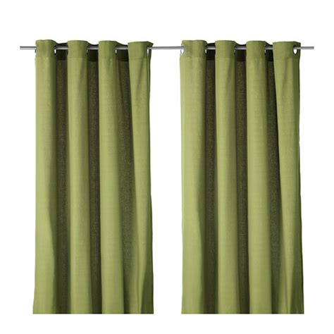 ikea mariam curtains ikea brand new mariam green color 1 pair curtain perfect