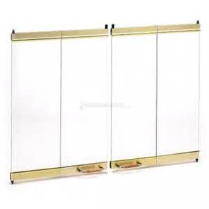 Fireplace Door Replacement Parts by 36 Fmi Brushed Brass Outdoor Bi Fold Fireplace Glass