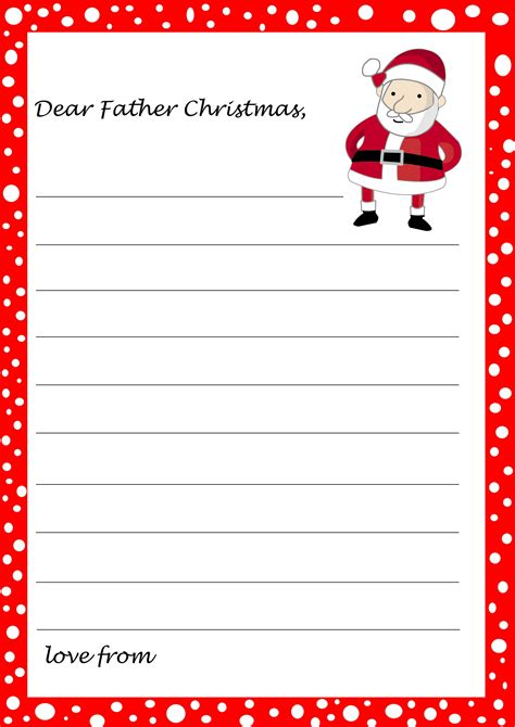 kids christmas list template coloring home
